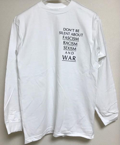 【11/3受注締切:11/26発送予定】Don't Tee 長袖 ホワイト