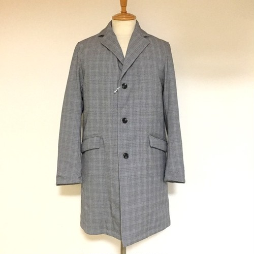 Down Chester Coat Gray Check