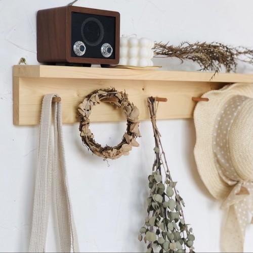natural wood wall shelf / ナチュラル ウッド インテリア ウォールシェルフ 壁掛け 棚 木製 原木 韓国 北欧 雑貨