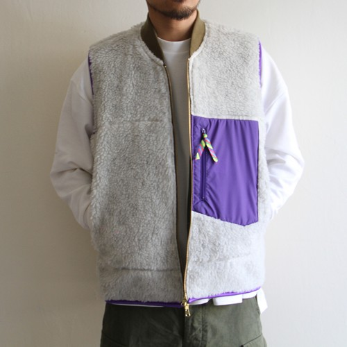is-ness【 mens 】coj reversible duck × fleece vest