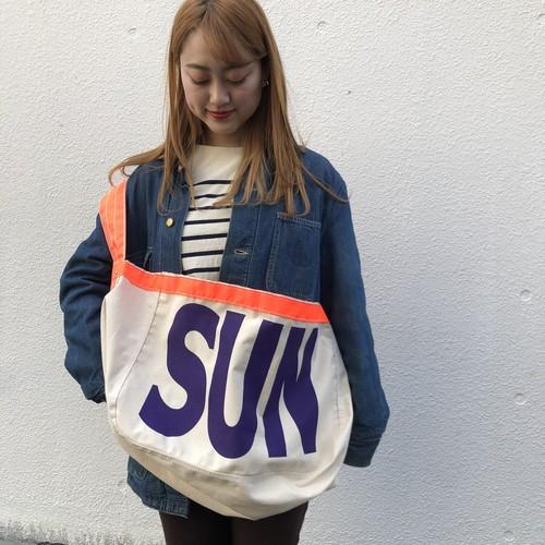 "US Made Newspaper Boy Bag, ""SUN"" Purple"
