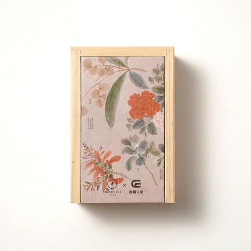 台湾茶 木製ボックス フラワーズ(蜜香紅茶)