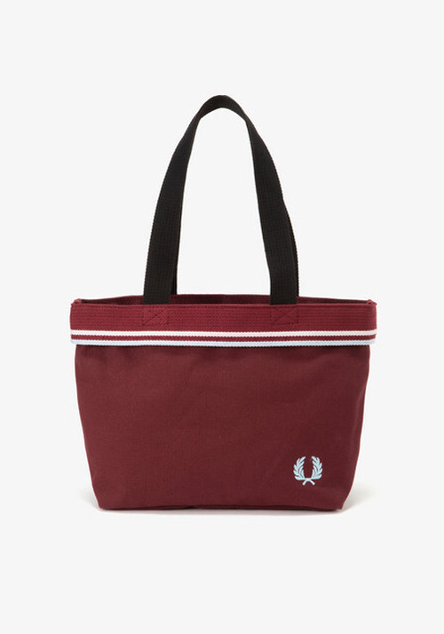 TWIN TIPPED SMALL TOTE BAG MAROON