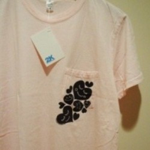 "2K BY GINGHAM | 【大特価 SALE!!!】 "" HEY LOVE "" Tee - Pale Pink"