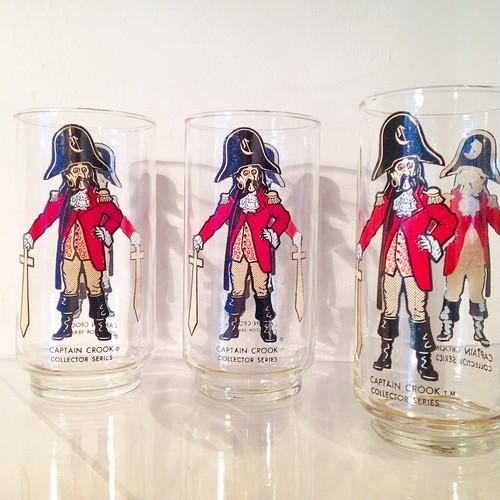Captain Crook / マクドナルドのキャラクターのグラス