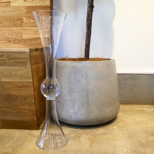 """再入荷! H60.5cm 大きな Glass Vase """"AMBOS""""A 花器フラワーベース"""