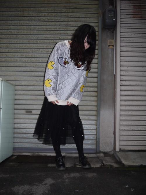 【パーフェクトプラン】白い虎とパックマン キルトトップス
