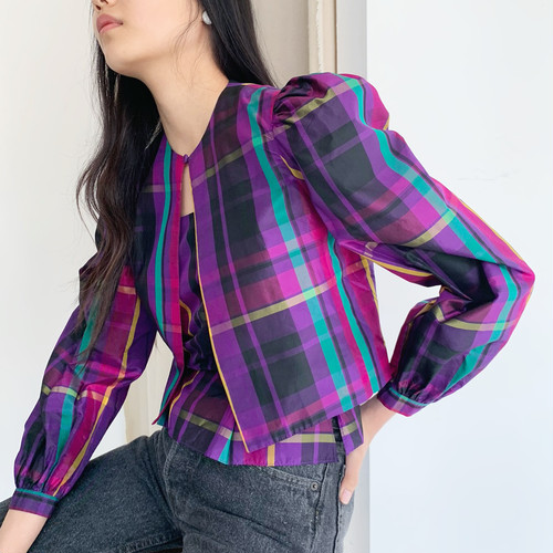 2 piece check jacket