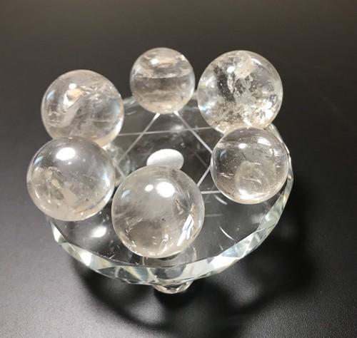 天然水晶玉 直径20mm〜22mm(6個セット)【送料込み】