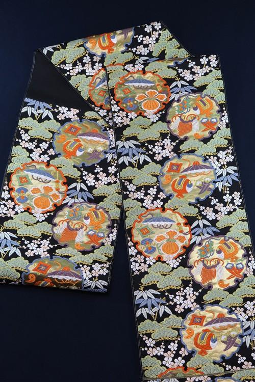 袋帯 西陣織 雪輪寿文