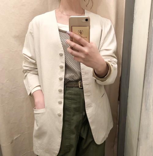 Vintage cotton-linen jacket