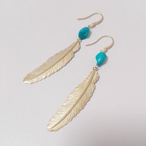 turquoise pierce/earring