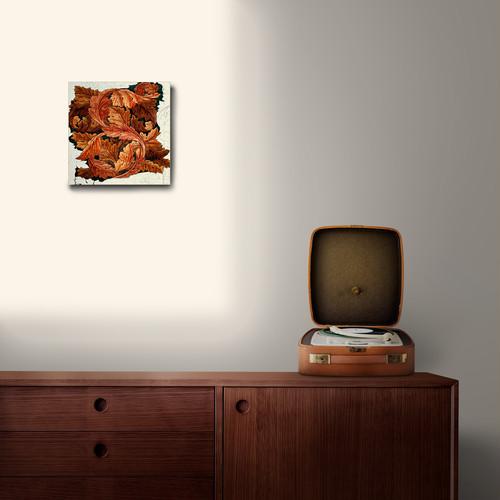 素敵なアートパネル 180mm角 アカンサス  ウィリアム・モリス