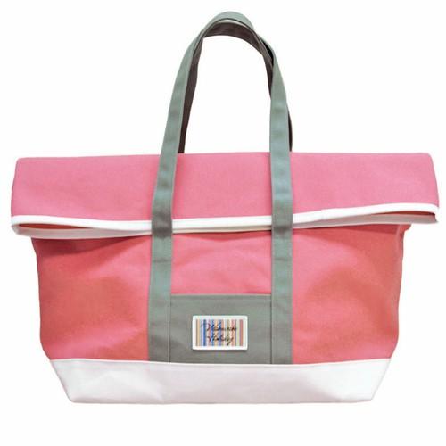 8号帆布二つ折りワイドトート(ピンク)