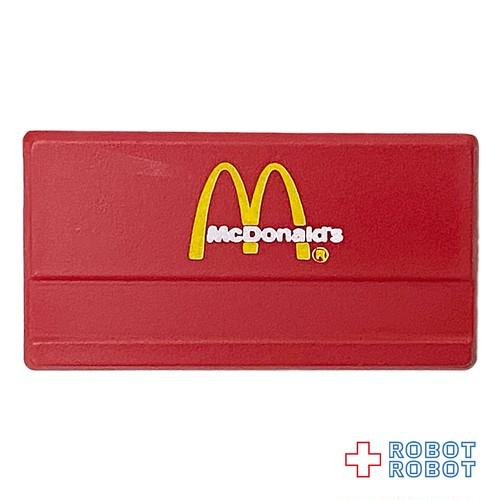 マクドナルド 名札 赤に白文字 ネームタグ バッジ