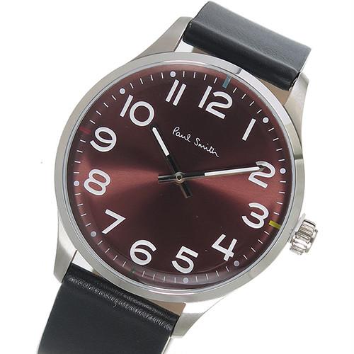 ポールスミス PAUL SMITH  クオーツ メンズ 腕時計 P10067 ボルドー ボルドー