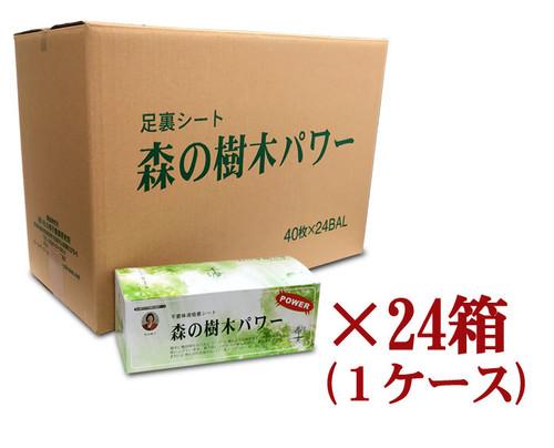 送料無料 足裏シート 森の樹木パワー40枚入 フットケア むくみ 長期使用24箱1ケース(30%OFF)