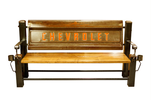 CHEVROLET FLEET BED TAILGATE BENCH 【BROWN】
