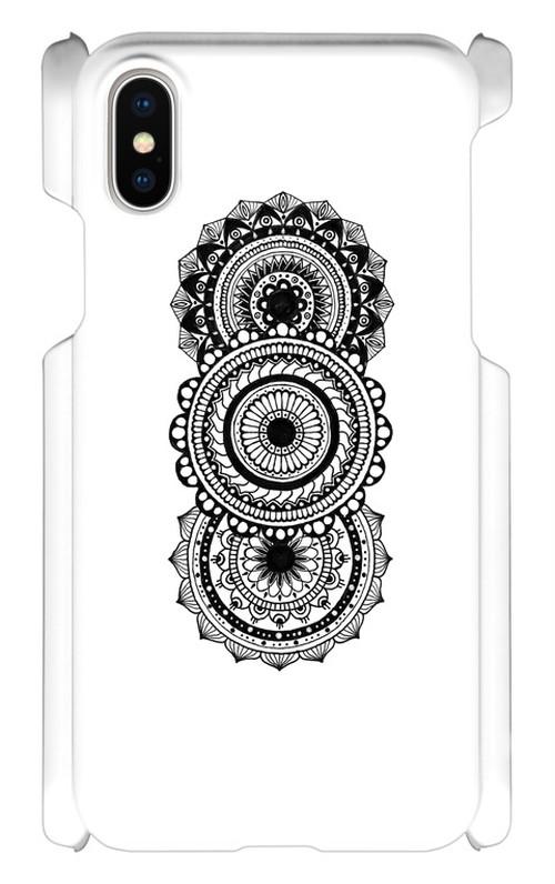 iPhone Xケース「三連曼荼羅」