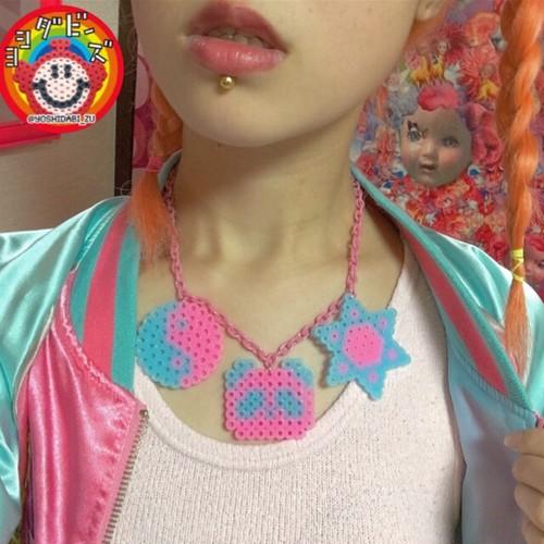 魔法にかけられたパンダネックレス(ピンク)