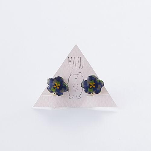 flower イヤリング earth お花のカタチ MARTTA ハンドメイド