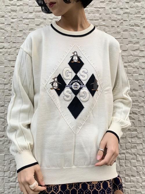 (TOYO) design knit tops