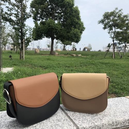 half moon shoulder bag beige