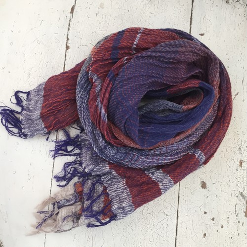 【tamaki niime】  roots shawl MIDDLE cotton100%  E〜G 玉木新雌
