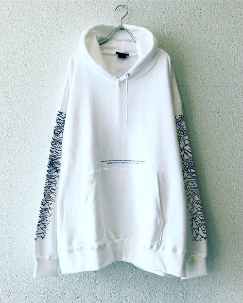 "【18057】PULLOVER BIG HOODIE ""WHITE"""