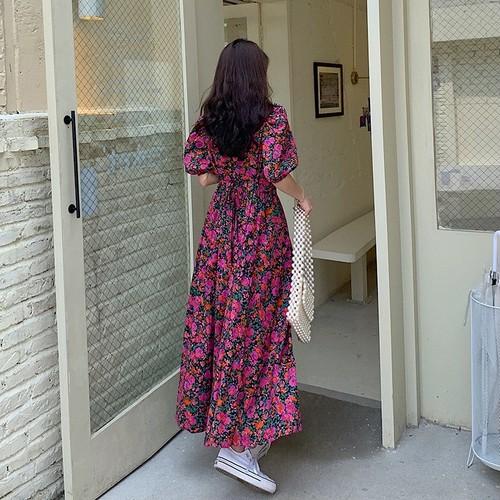 ドレッシーフラワーパフドレス A146