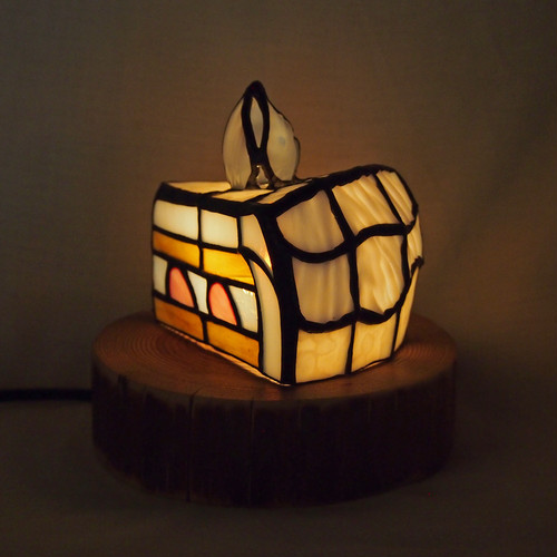 「ケーキ」ステンドグラスフィギアランプ