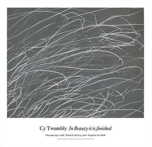Cy Twombly / Gagosian ドローイング展ポスター 2018