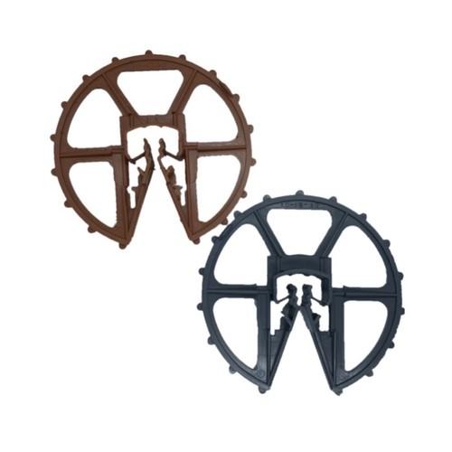 鉄筋型スペーサー ドーナツ型 (D10~16 W50 300個入 グレー・ブラウン)