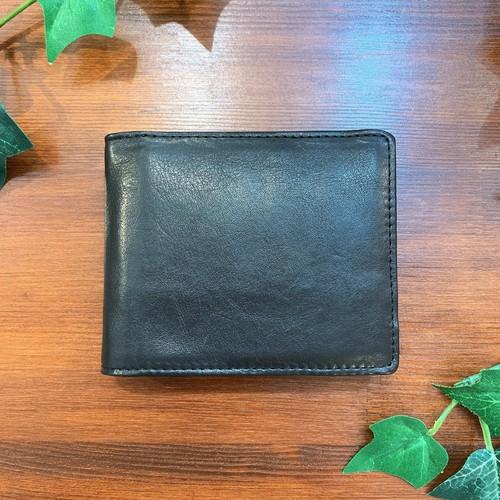 【牛革】シンプル2つ折り財布<4色展開> シンプル コンパクト 折り畳み財布 本革 ウォレット W8233