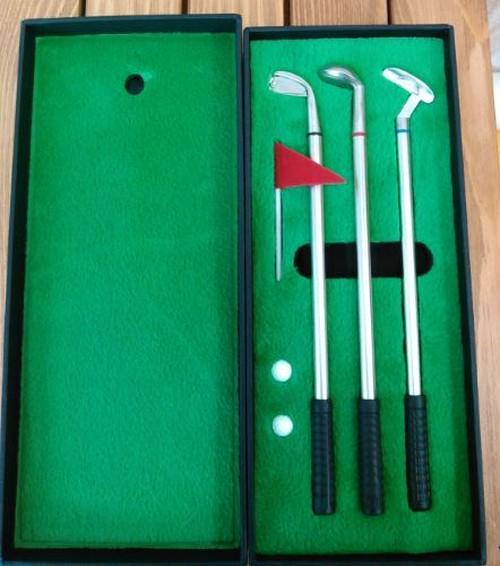 ゴルフペン三色(黒、赤、青)セット