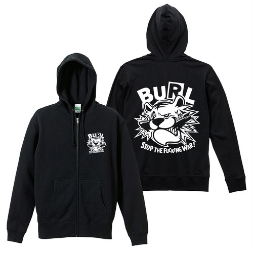 FUCKING TIGER HOODIE (ZIP-UP/BLACK)