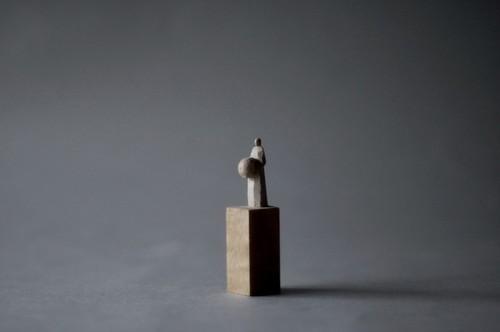 (067)wood figure-mini台付_036