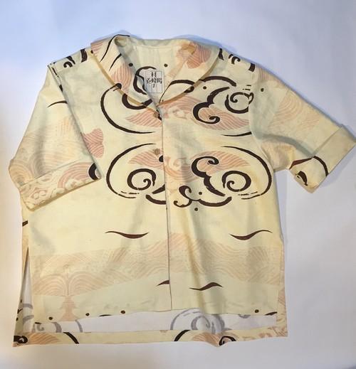 石原七生コラボ 波鯨模様のシャツ