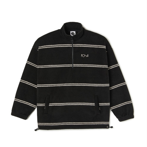 POLAR SKATE CO STRIPE FLEECE PULLOVER 2.0 BLACK L