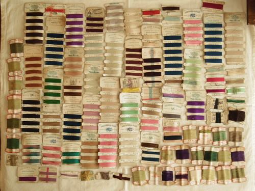 ランスアンティーク 糸 糸巻き  紙巻き 92個セット