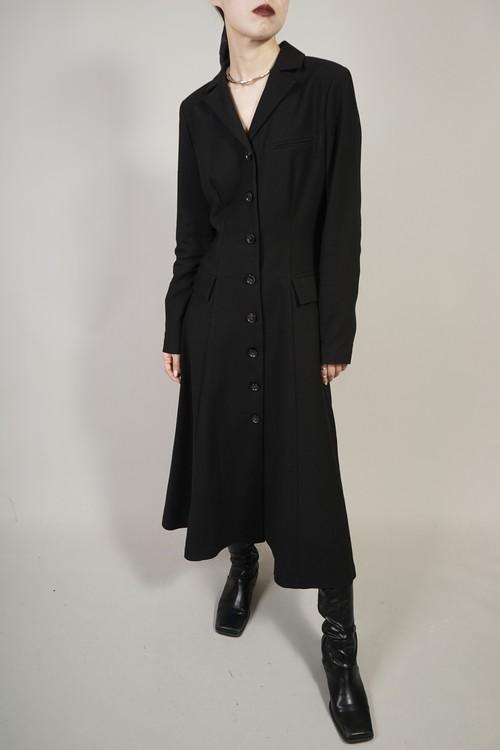 FLARE ONE PIECE COAT  (BLACK) 2103-77-29