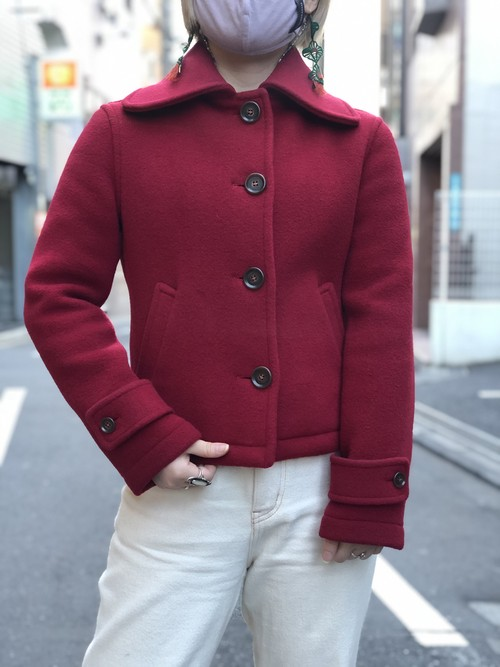 Women's【LONDON TRADITION】 Stand Fall Collar Short Coat