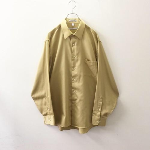 GEOFFREY BEENE オーバーサイズ 光沢 ドレスシャツ イエロー アメリカ製 メンズ 古着