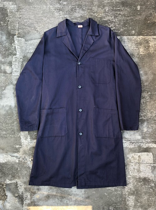 Vintage / euro shop coat - navy - made in italy