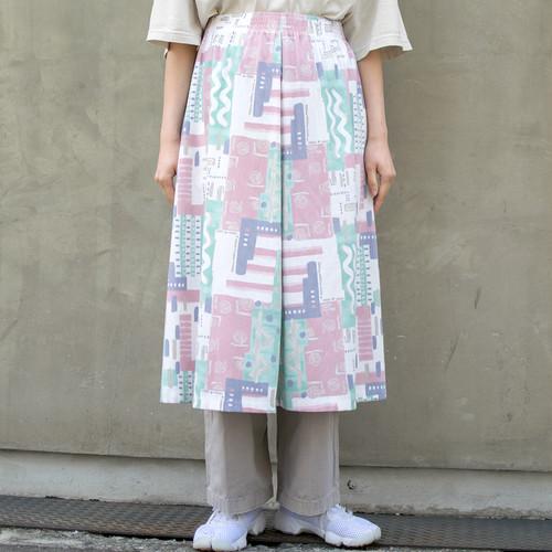 """Made in USA"" Pastel Art Skirt"