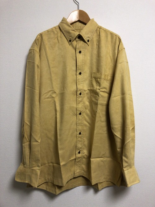 2000's polyester faux suede shirt