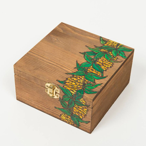 Wood box [Ilima&Mile Lei]【KNGD-0060】