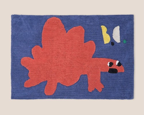 BOBO CHOSES ボボショセス Cotton Tuffted Red Dino Rug
