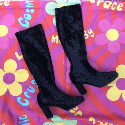 velours long boots