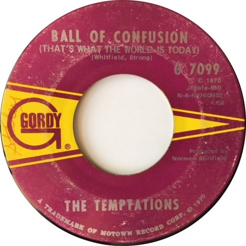 Temptations, The ‎– Ball Of Confusion (That's What The World Is Today) / It's Summer